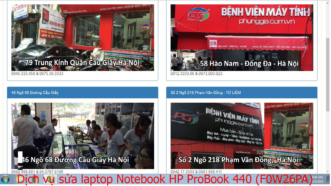 Sửa laptop Notebook HP ProBook 440