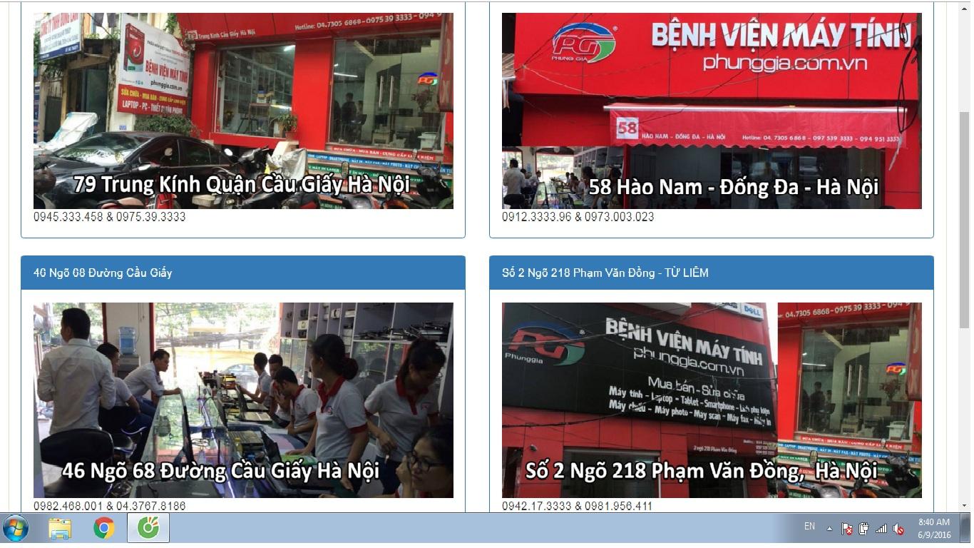 Địa chỉ sửa máy tính tại nhà Mỹ Đình, Nguyễn Cơ Thạch, Ngân Hàng, Nông Lâm